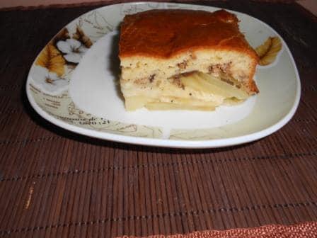 Рыбный  заливной пирог из консервы скумбрии —  очень вкусно!