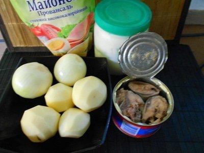 ингредиенты для рыбного пирога