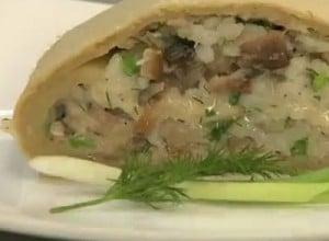 рыбный пирог со скумбрией и рисом
