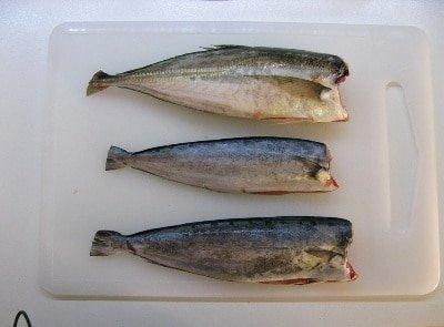 рыба скумбрия жареная на сковороде
