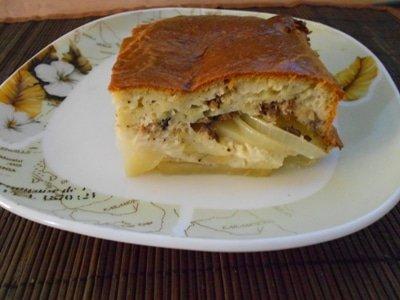 рыбный заливной пирог из коснервы