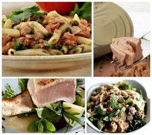 салат с консервированного тунца