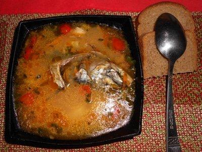 Варим суп из скумбрии