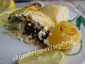 скумбрия в духовке с сыром