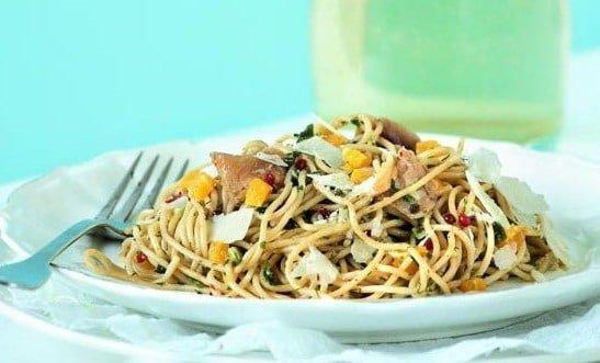 спагетти со скумбрией