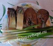 Скумбрия, маринованная в соевом соусе