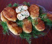Сочные рыбные котлеты с укропом и маслом внутри