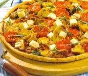 Пицца с тунцом и грибами