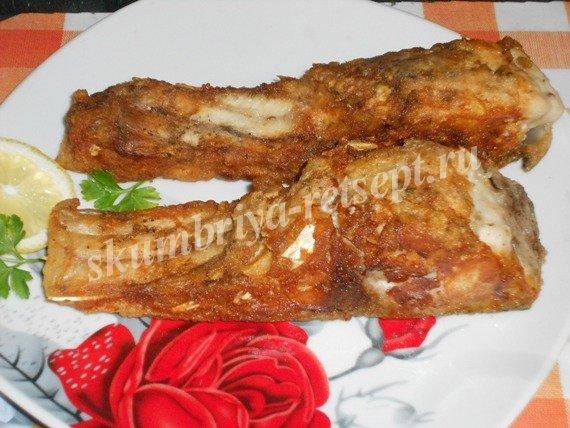толстолобик жареный на сковороде