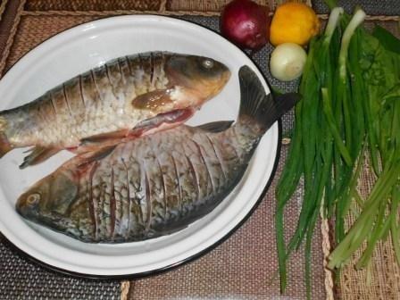 рыбу насечь