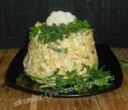 Салат из печени трески:  простой рецепт