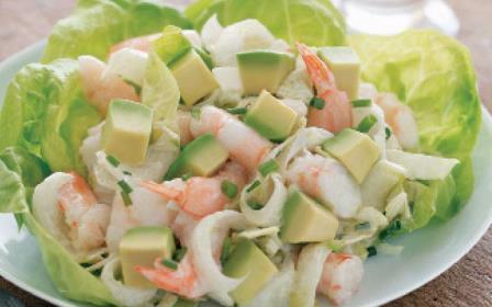 Простые салаты с креветками