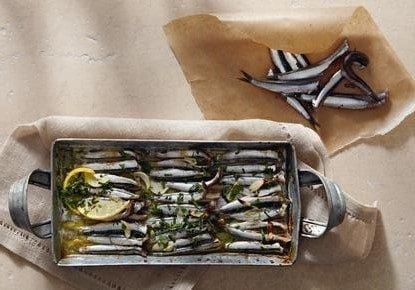 анчоусы с орегано в духовке