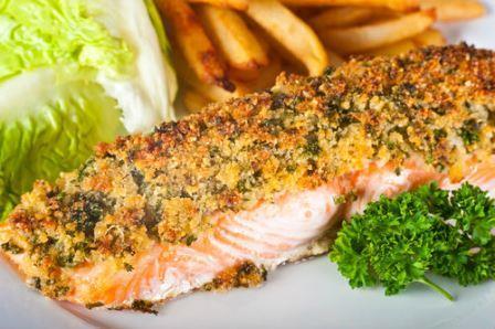 лосось с хрустящей корочкой