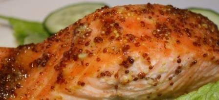 лосось в духовке с лимоном и медом