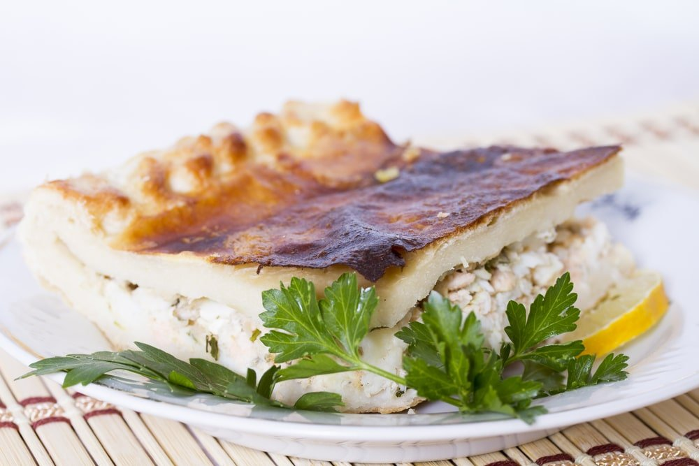 Пирог из скумбрии